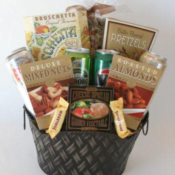 Pizza-N'-Beer Gift Basket